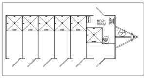 6 Station Shower Floor Plan