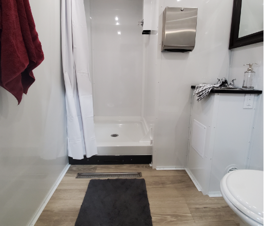 Inside Shower Trailer Combo