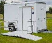 Outside ADA Shower and Restroom Combo Trailer